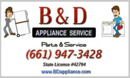 B Amp D Links Page B Amp D Appliance Repair Palmdale Ca