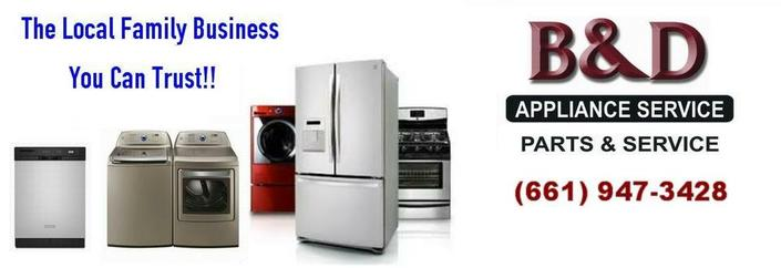 B&D Appliance Repair Service 41232 Maple St. Palmdale, CA 93551